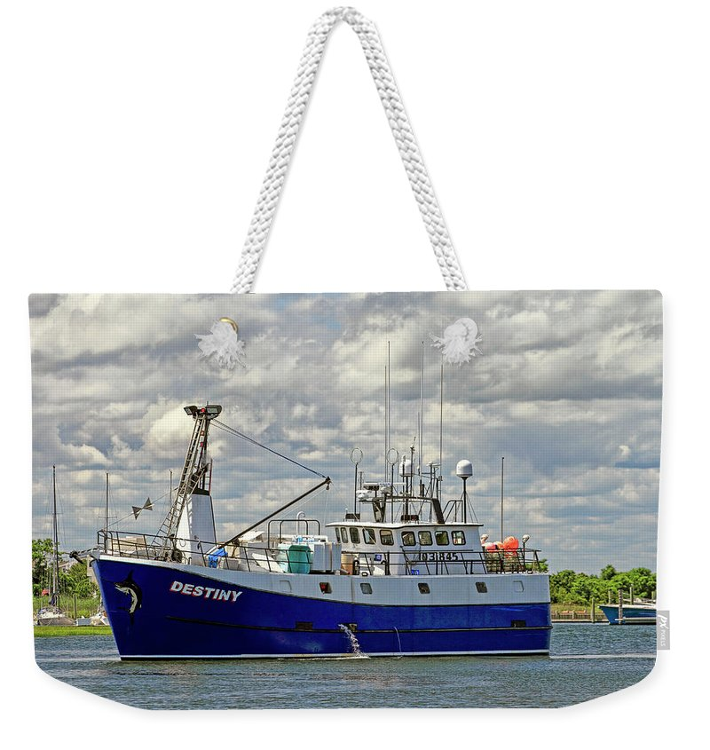 Current Weekender Tote Bag featuring the photograph Cloudy Day On The Marina by Geraldine Scull