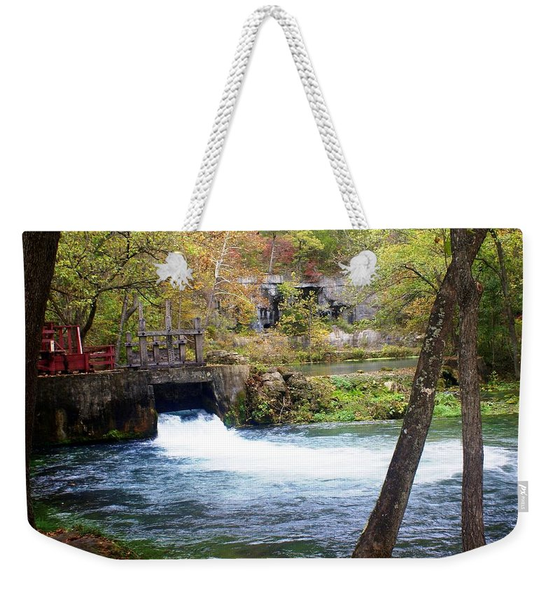 Alley Spring Weekender Tote Bag featuring the photograph Alley Spring by Marty Koch