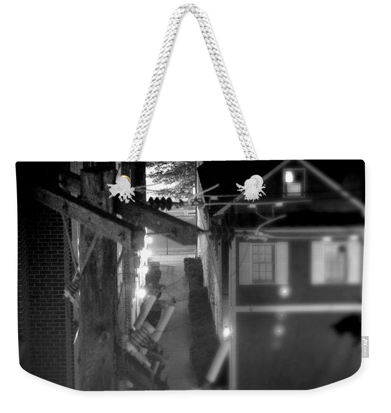 Alley Weekender Tote Bag featuring the photograph Alley To High by Jean Macaluso