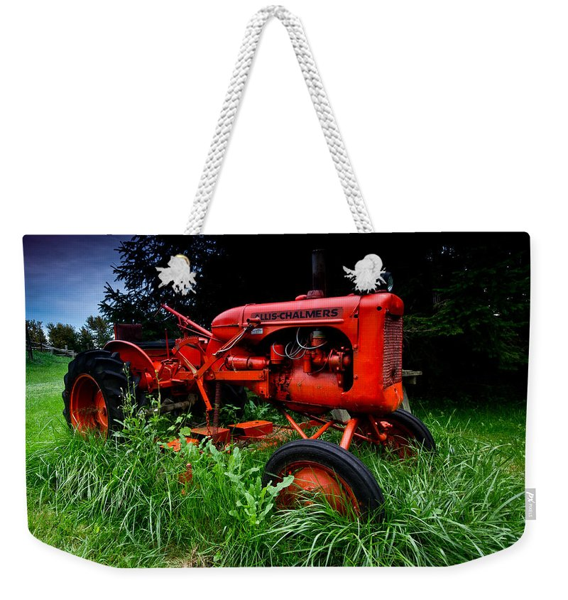 Farm Weekender Tote Bag featuring the photograph Allis Chalmers Tractor by Cale Best