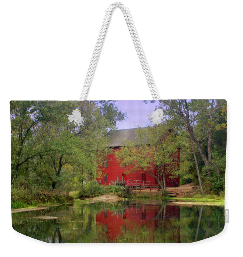 Alley Spring Weekender Tote Bag featuring the photograph Allsy Sprng Mill 2 by Marty Koch