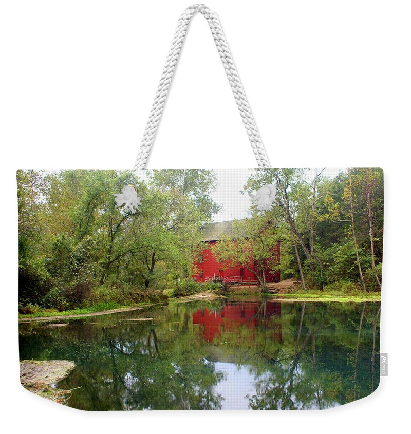 Mill Weekender Tote Bag featuring the photograph Allsy Sprng Mill by Marty Koch