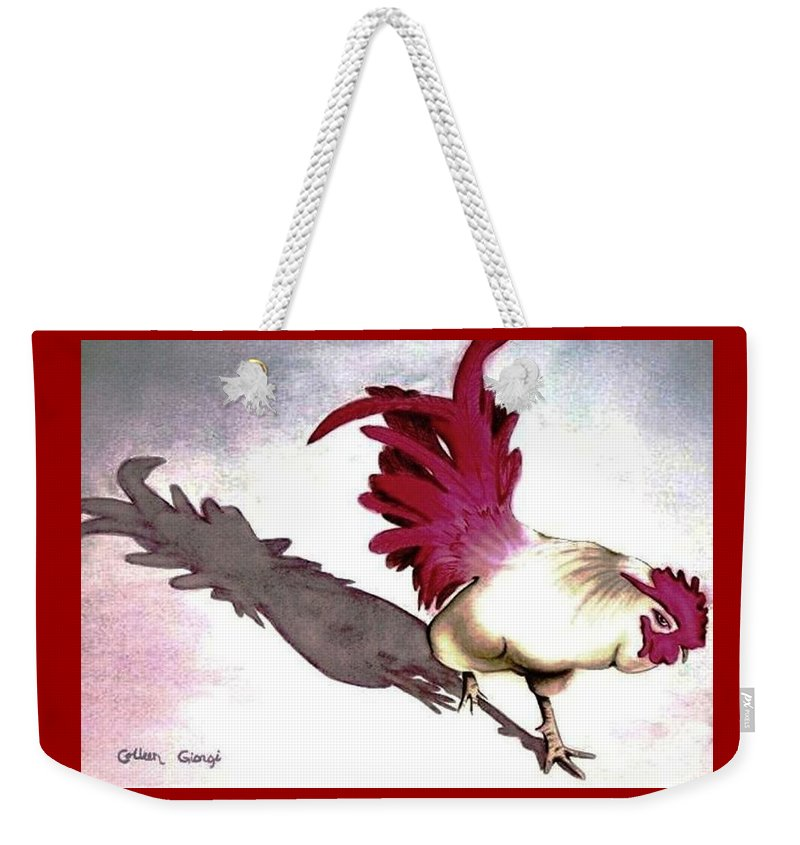 Chicken Weekender Tote Bag featuring the painting Almost Home by Colleen Giorgi