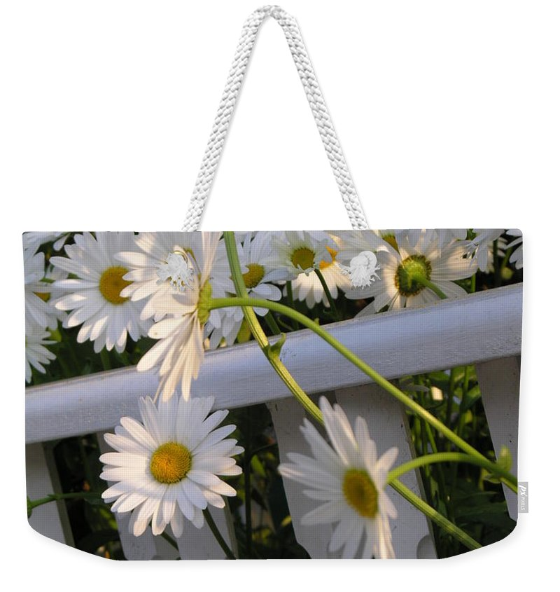 Dasiy's Weekender Tote Bag featuring the photograph Almost Out by Diane Greco-Lesser