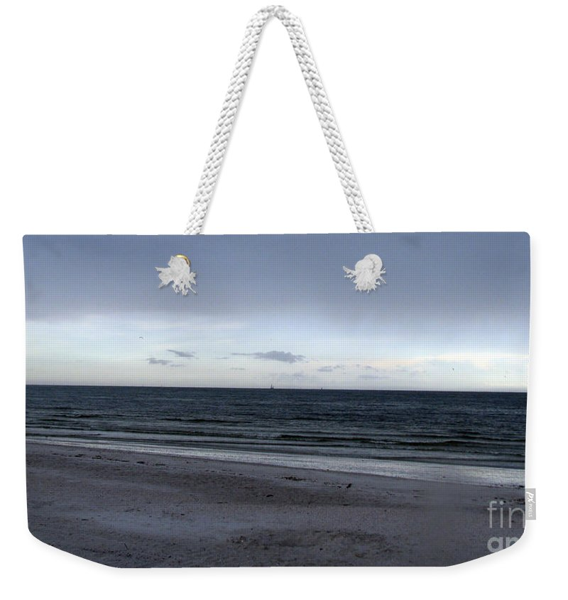 St Petersburg Florida Weekender Tote Bag featuring the photograph Almost Sunset by Amanda Barcon