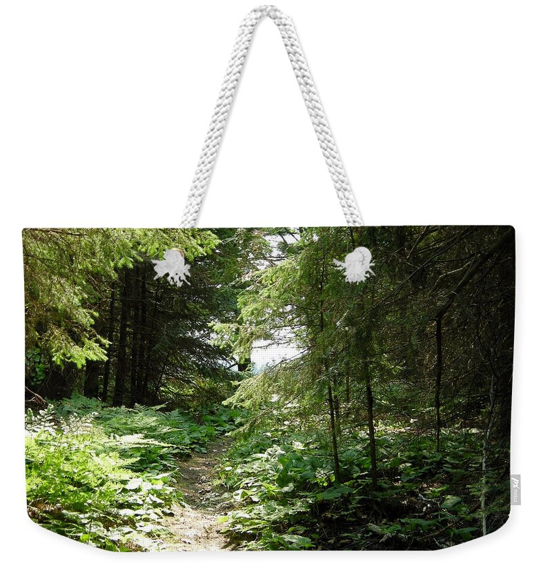 Trail Weekender Tote Bag featuring the photograph Almost There by Davis FlowerPower