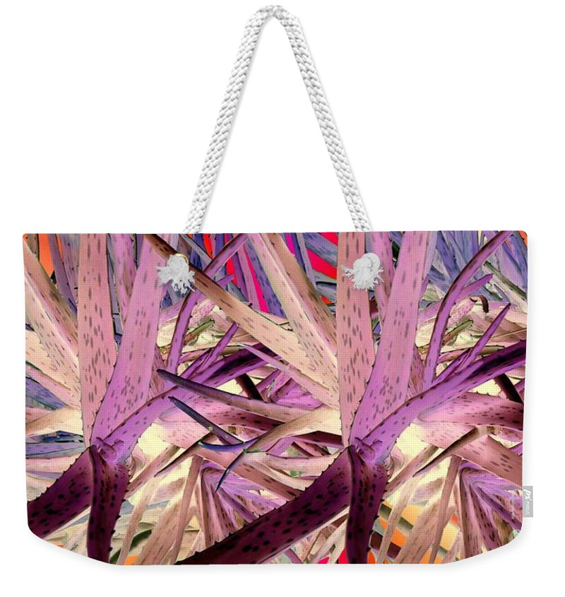 Aloe Weekender Tote Bag featuring the photograph Aloe Fall by Ron Bissett