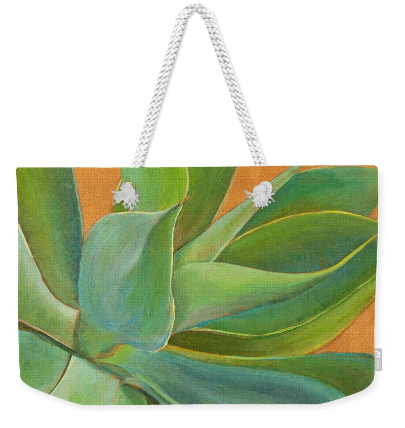 Foxtail Agave Weekender Tote Bag featuring the painting Aloha 1 by Athena Mantle