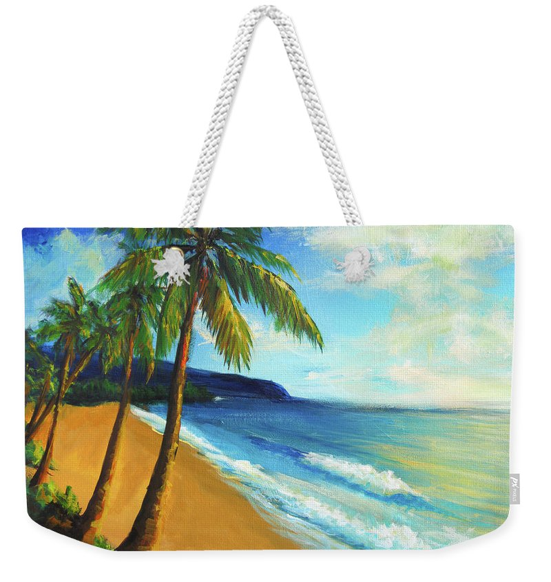 Beach Weekender Tote Bag featuring the painting Aloha by Hanako Hawaii