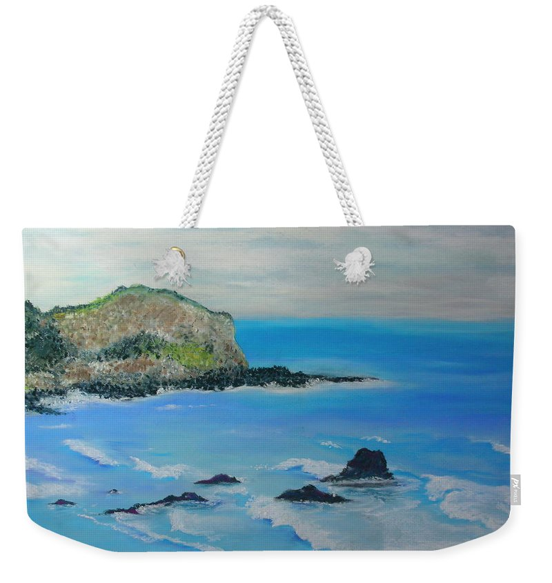Hawaii Weekender Tote Bag featuring the painting Aloha by Melinda Etzold