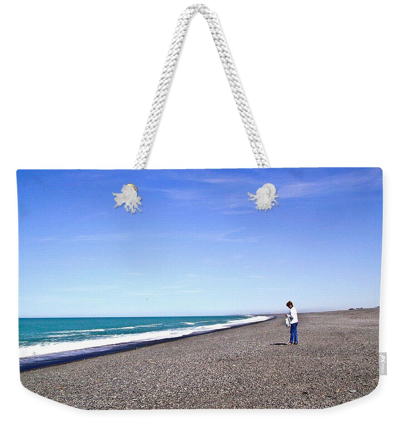 Alone Weekender Tote Bag featuring the photograph Alone And At Peace by Douglas Barnett