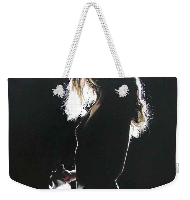 Ignatenko Weekender Tote Bag featuring the painting Alone At Home2 by Sergey Ignatenko