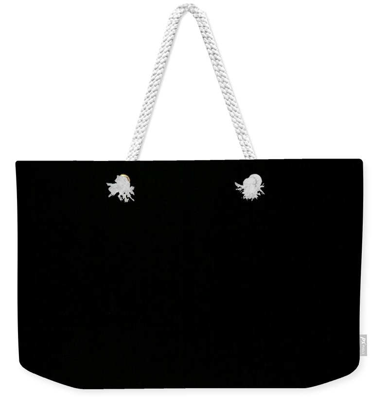 Night Weekender Tote Bag featuring the photograph Alone At Night by Marilyn Hunt