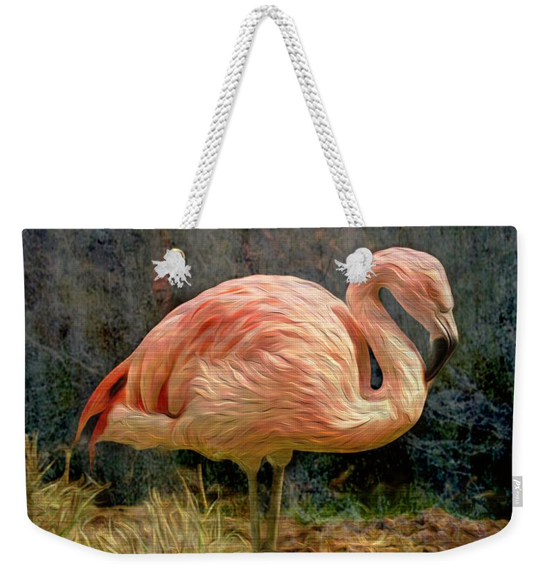 Alone Weekender Tote Bag featuring the photograph Alone by Cynthia Wolfe