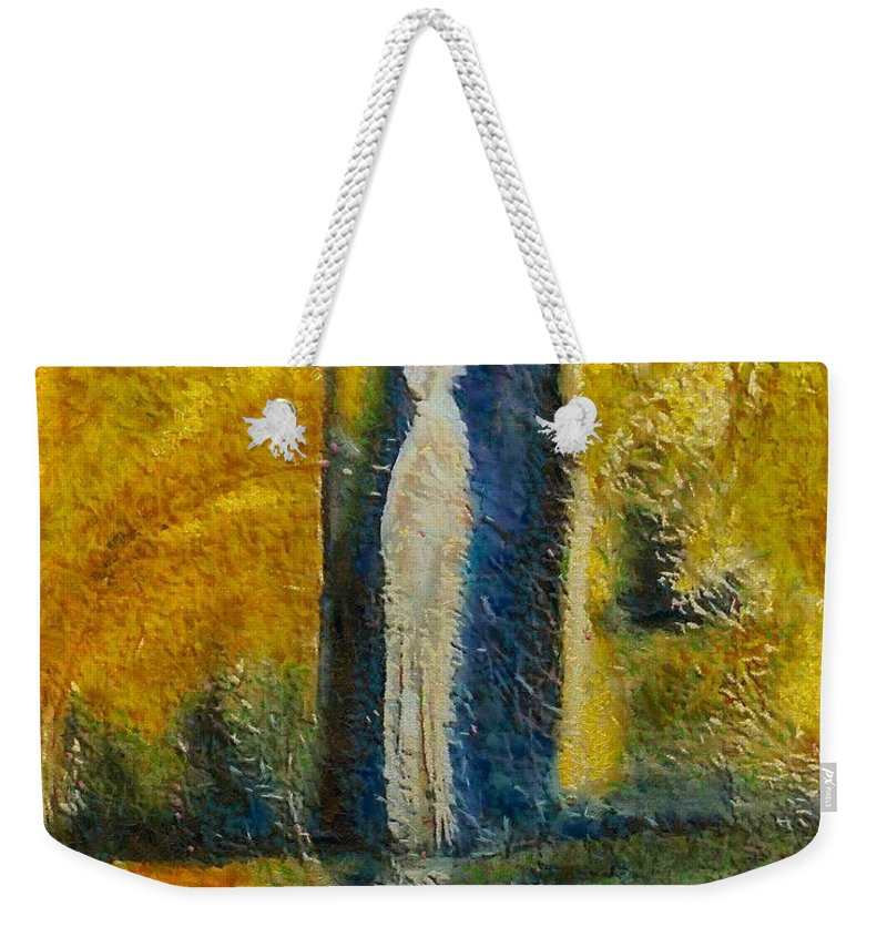 Mixed Media Weekender Tote Bag featuring the mixed media Alone by Dragica Micki Fortuna