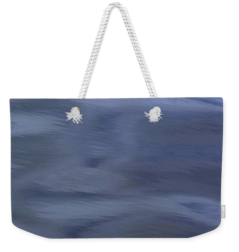 River Weekender Tote Bag featuring the photograph Alone by Jo Hoden