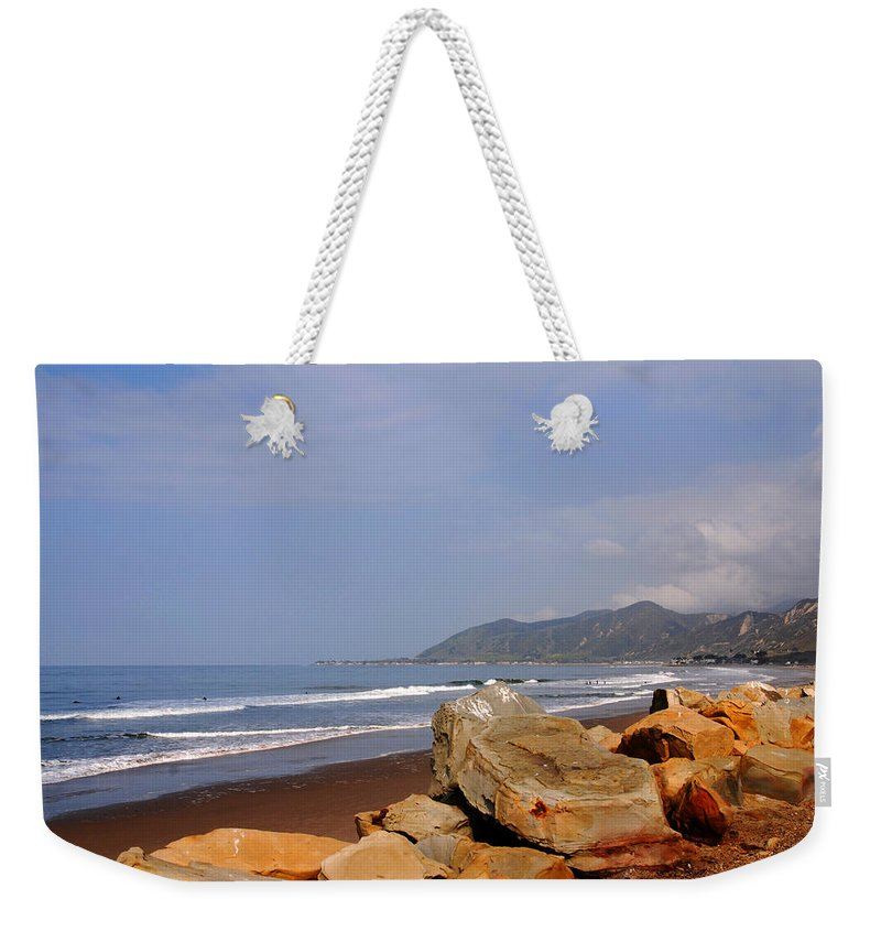 West Coast Weekender Tote Bag featuring the photograph Along The Californian Coast by Susanne Van Hulst