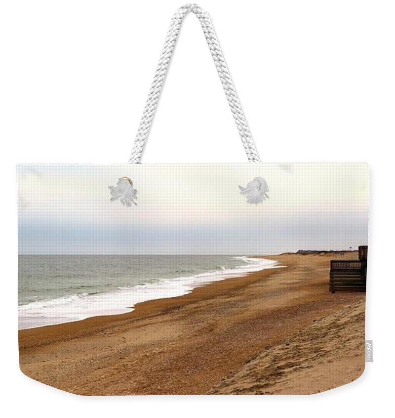 Panorama Weekender Tote Bag featuring the photograph Along The Tide Line by Robert McCulloch