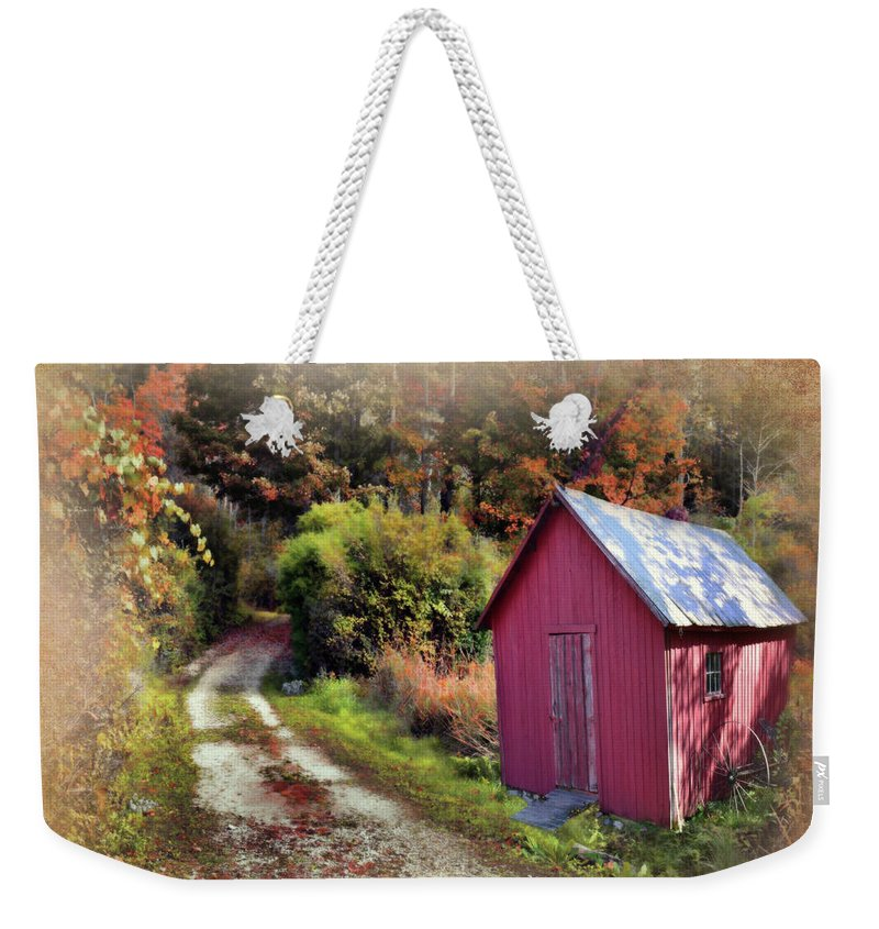 Barns Weekender Tote Bag featuring the photograph Along The Way by Reese Lewis