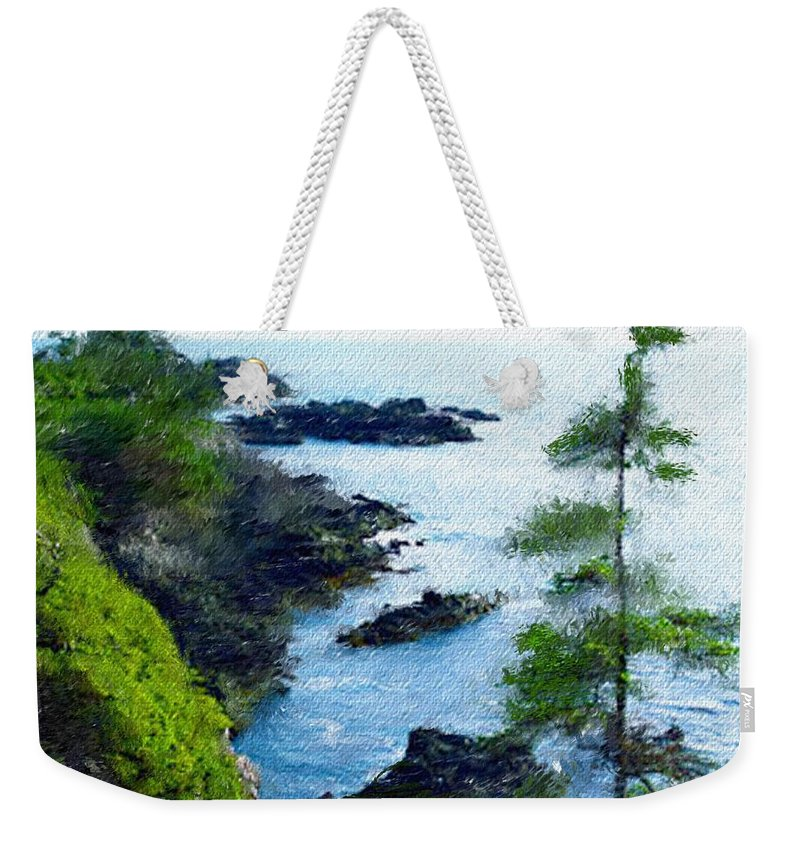 Digital Photograph Weekender Tote Bag featuring the photograph Along The West Coast 1 by David Lane