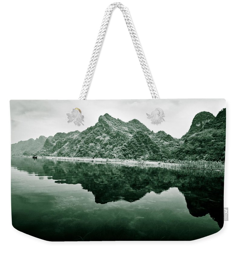 Yen Weekender Tote Bag featuring the photograph Along The Yen River by Dave Bowman