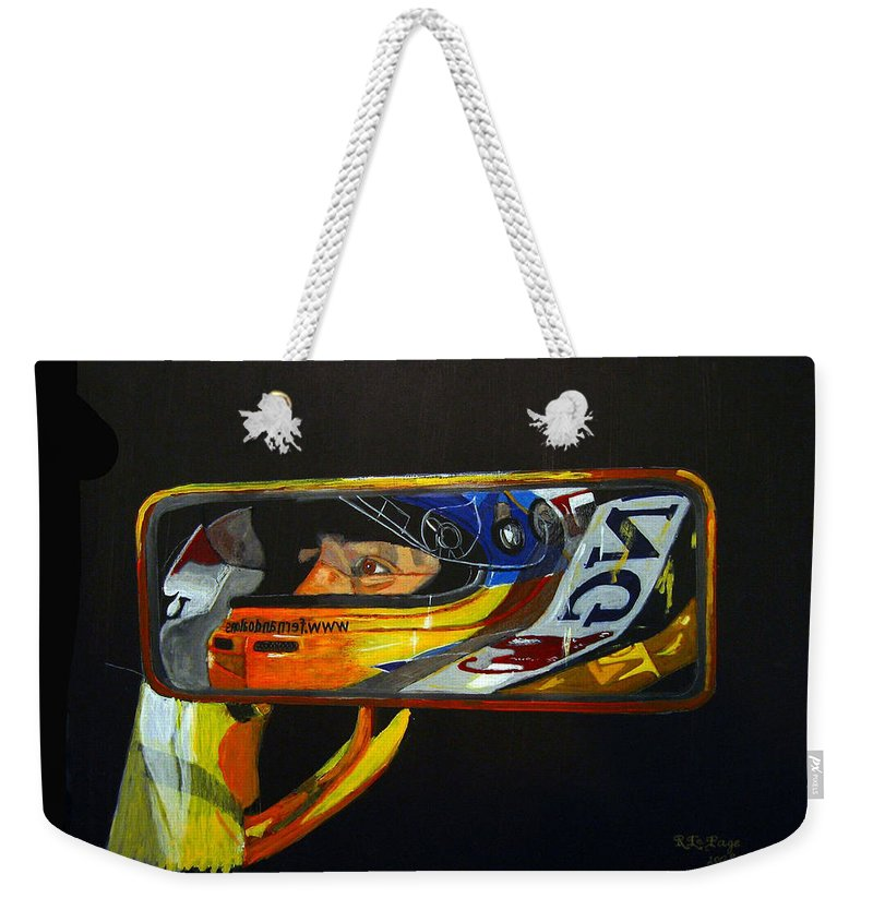 Alonso Weekender Tote Bag featuring the painting Alonso by Richard Le Page