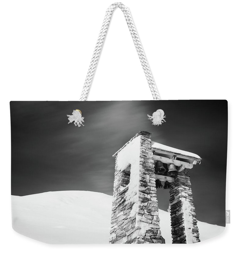 Alp Da Stierva Weekender Tote Bag featuring the photograph Belfry by DiFigiano Photography