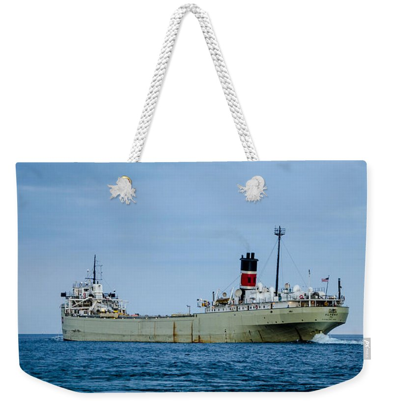 Gales Of November Weekender Tote Bag featuring the photograph Alpena On Lake Huron by Gales Of November