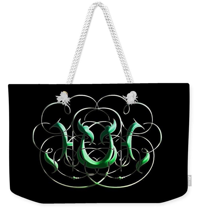 Weekender Tote Bag featuring the digital art Alphabet Art1 by Kipchirchir Chemitei