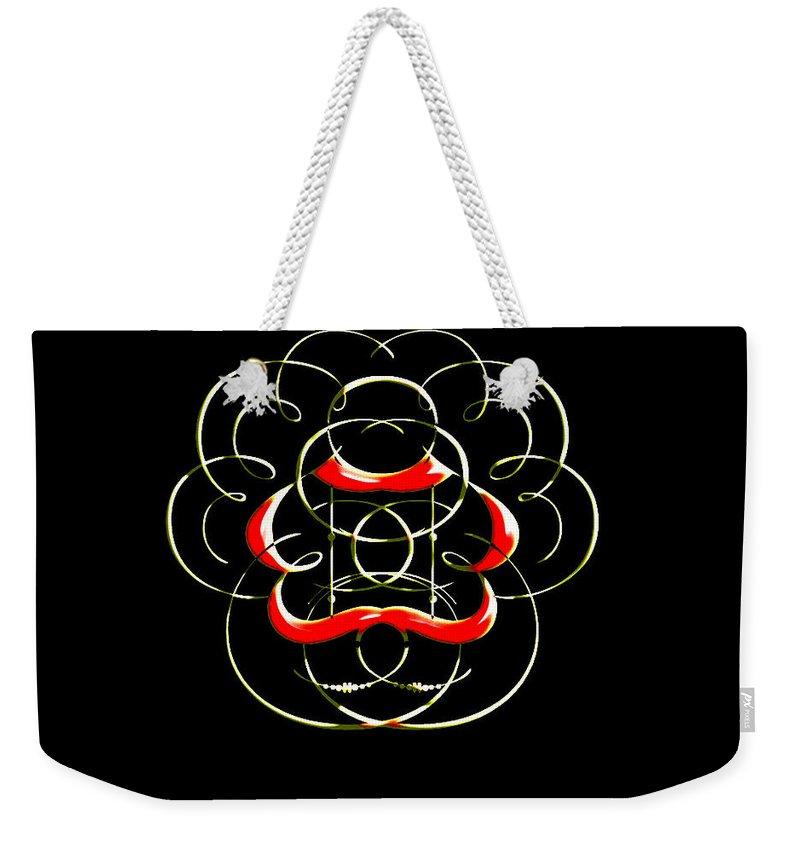 Weekender Tote Bag featuring the digital art Alphabet Art4 by Kipchirchir Chemitei