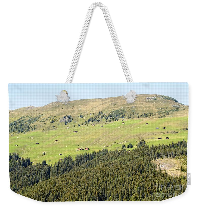 Alps Weekender Tote Bag featuring the photograph Alpine Forest Landscape. by Ilan Rosen