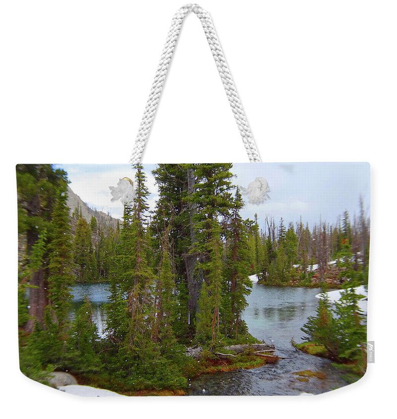 Idaho Weekender Tote Bag featuring the photograph Alpine Lake Area by Dan Dixon