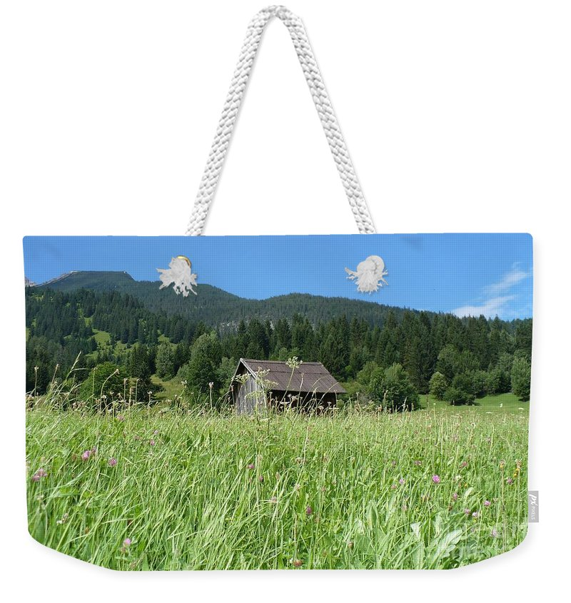 Alpine Weekender Tote Bag featuring the photograph Alpine Meadow by Carol Groenen