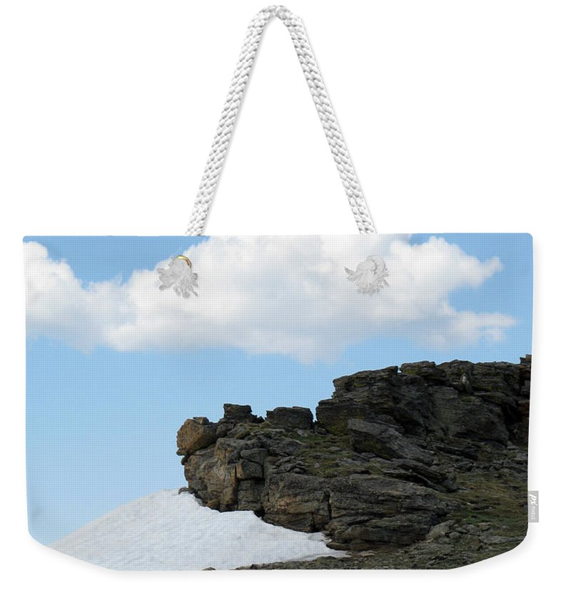 Rocky Mountains Weekender Tote Bag featuring the photograph Alpine Tundra - Up In The Clouds by Amanda Barcon
