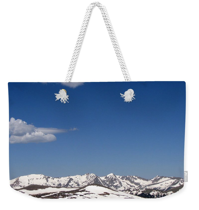 Mountains Weekender Tote Bag featuring the photograph Alpine Tundra Series by Amanda Barcon