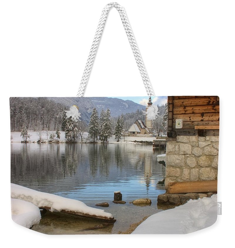 Bohinj Weekender Tote Bag featuring the photograph Alpine Winter Clarity by Ian Middleton