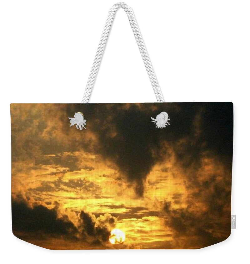Daybreak Weekender Tote Bag featuring the photograph Alter Daybreak by Rhonda Barrett