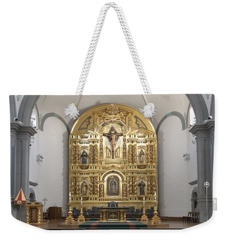 Architecture Weekender Tote Bag featuring the photograph Alter San Juan Capistrano by Bob Christopher