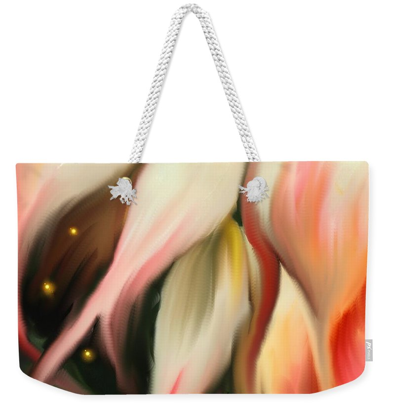 Abstract Weekender Tote Bag featuring the digital art Alternative Dimension by Ian MacDonald