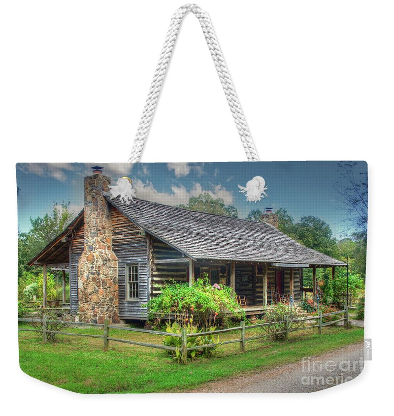 Travel Weekender Tote Bag featuring the photograph Alumni Museum by Larry Braun