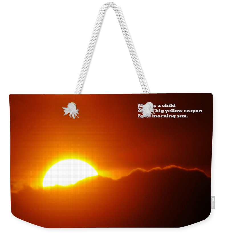 Sunset Weekender Tote Bag featuring the photograph Always A Child by Jeff Swan