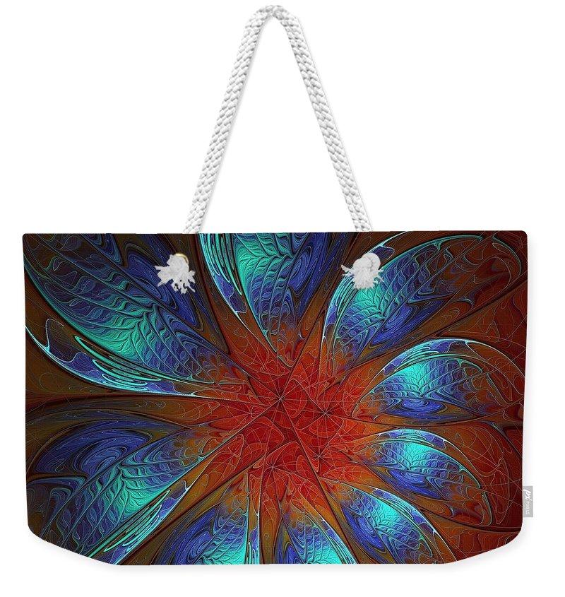 Digital Art Weekender Tote Bag featuring the digital art Always and Forever by Amanda Moore