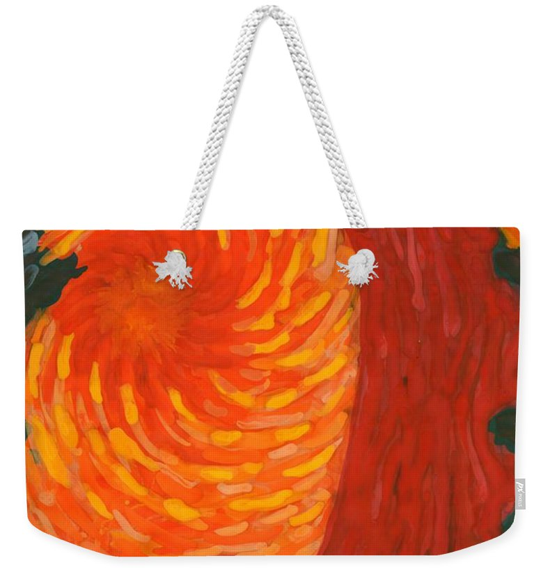 Colour Weekender Tote Bag featuring the painting Always Near You by Wojtek Kowalski