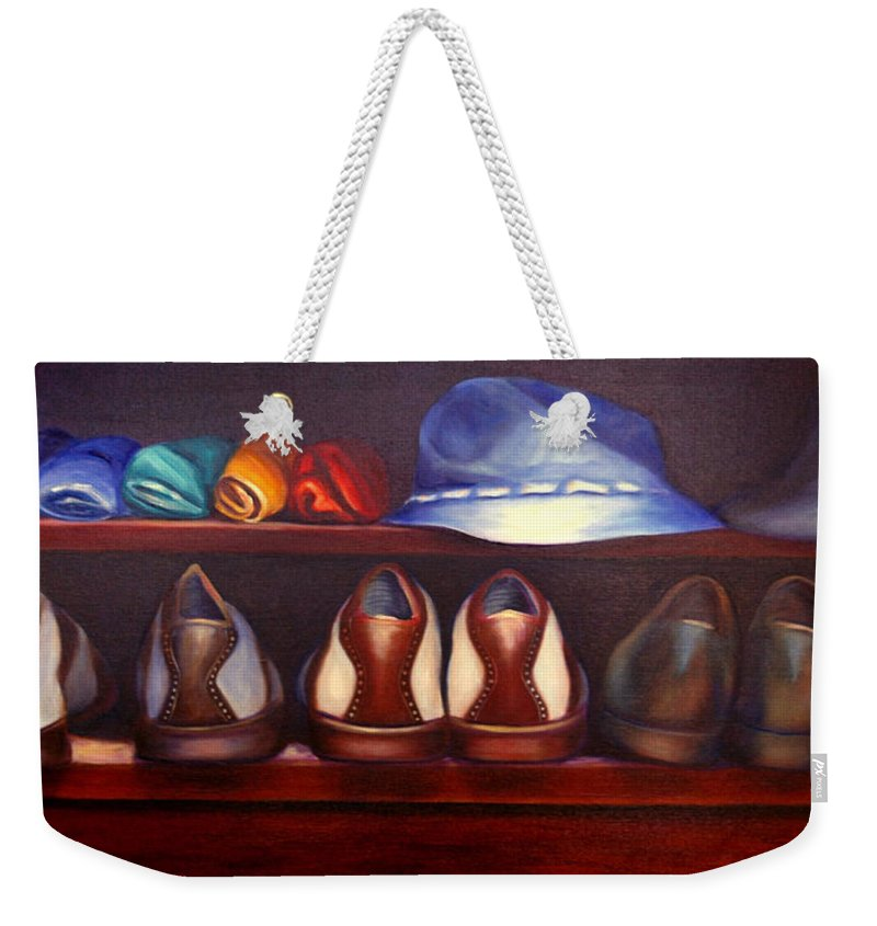 Golf Weekender Tote Bag featuring the painting Always Options by Shannon Grissom