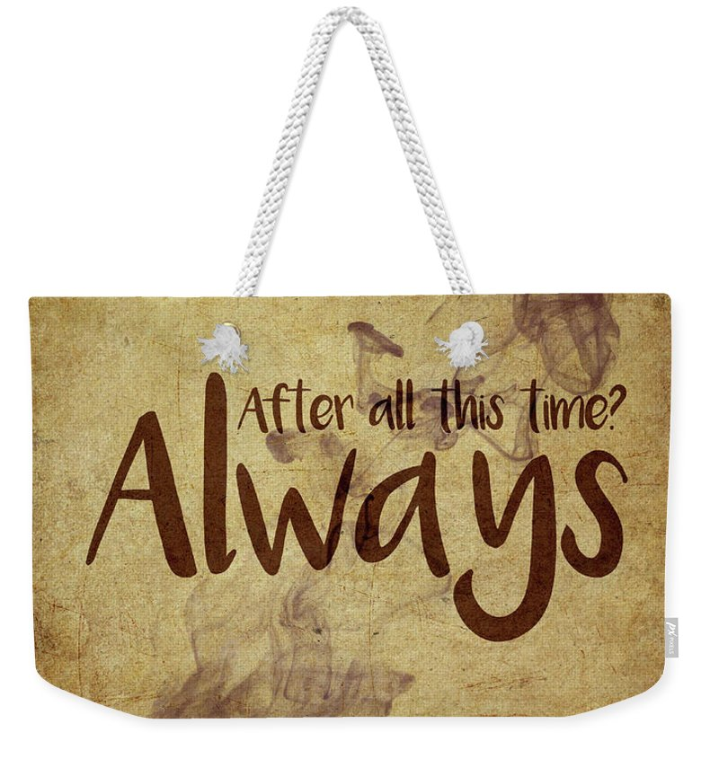 Harry Potter Weekender Tote Bag featuring the digital art Always by Samuel Whitton