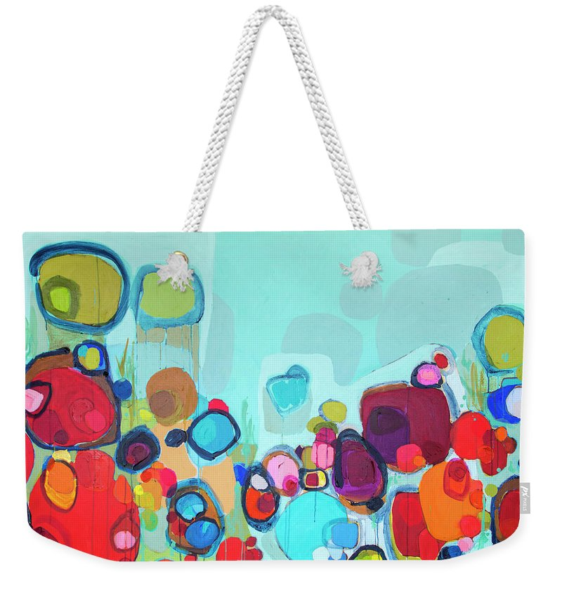 Abstract Weekender Tote Bag featuring the painting Always Will Be by Claire Desjardins