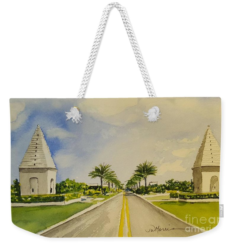 Alys Beach Weekender Tote Bag featuring the painting Alys Beach, Florida by Jill Morris