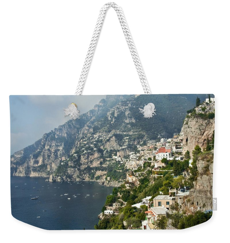 Amalfi Weekender Tote Bag featuring the photograph Amalfi Coast II by Steven Sparks