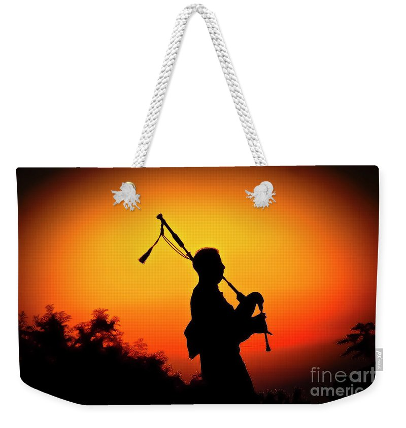 Sunset Weekender Tote Bag featuring the photograph Amazing Grace by Jim Cazel