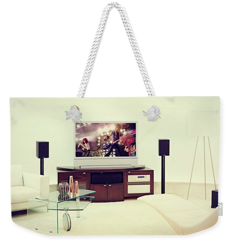 Home Theater Systems Chicago Weekender Tote Bag featuring the photograph Amazing Home Theaters Systems by James Lynnn